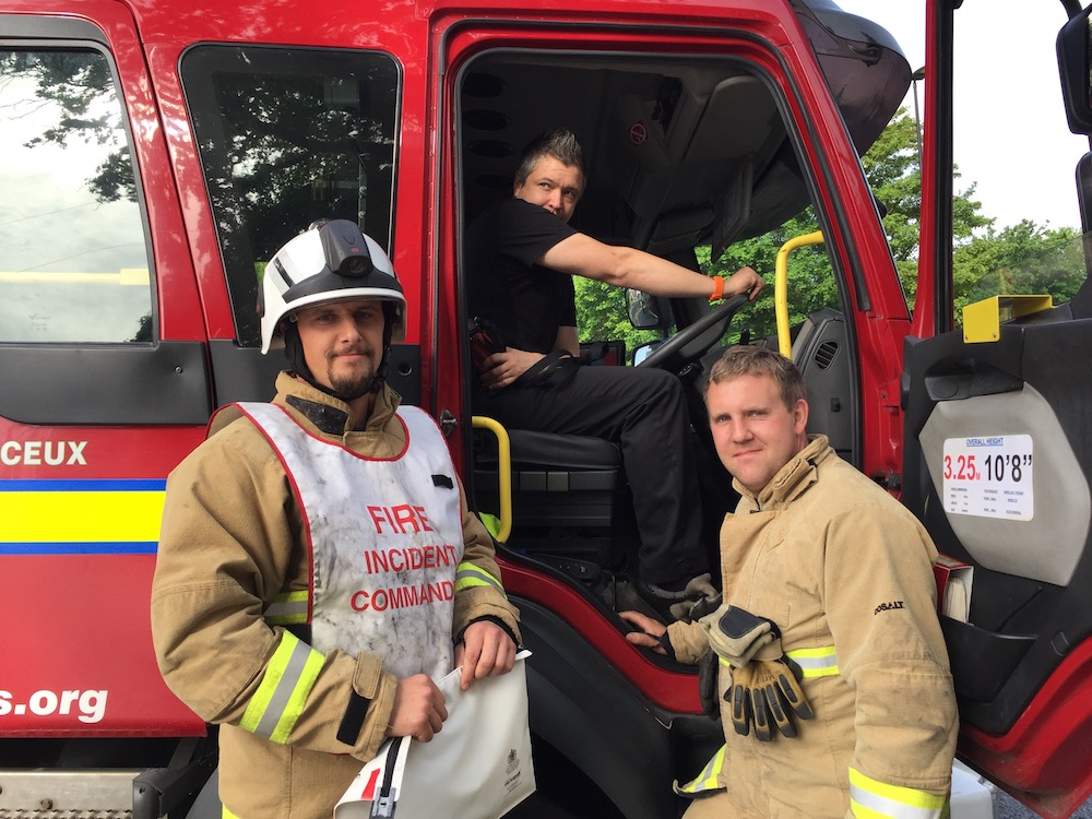 framfield-road-fire-incident-commander -watch-commander-paul-markwick-command-support-crew-manager-brad-hawkins-firefighter-dan-harris-all-herstmonceux