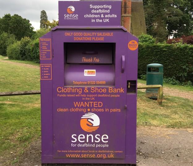 Sense bank at Ridgeqood Village Hall car park
