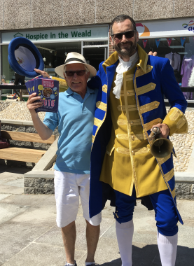 Town crier Ian Bedwell with David Sudbery of the Uckfield Festival committee.jpg