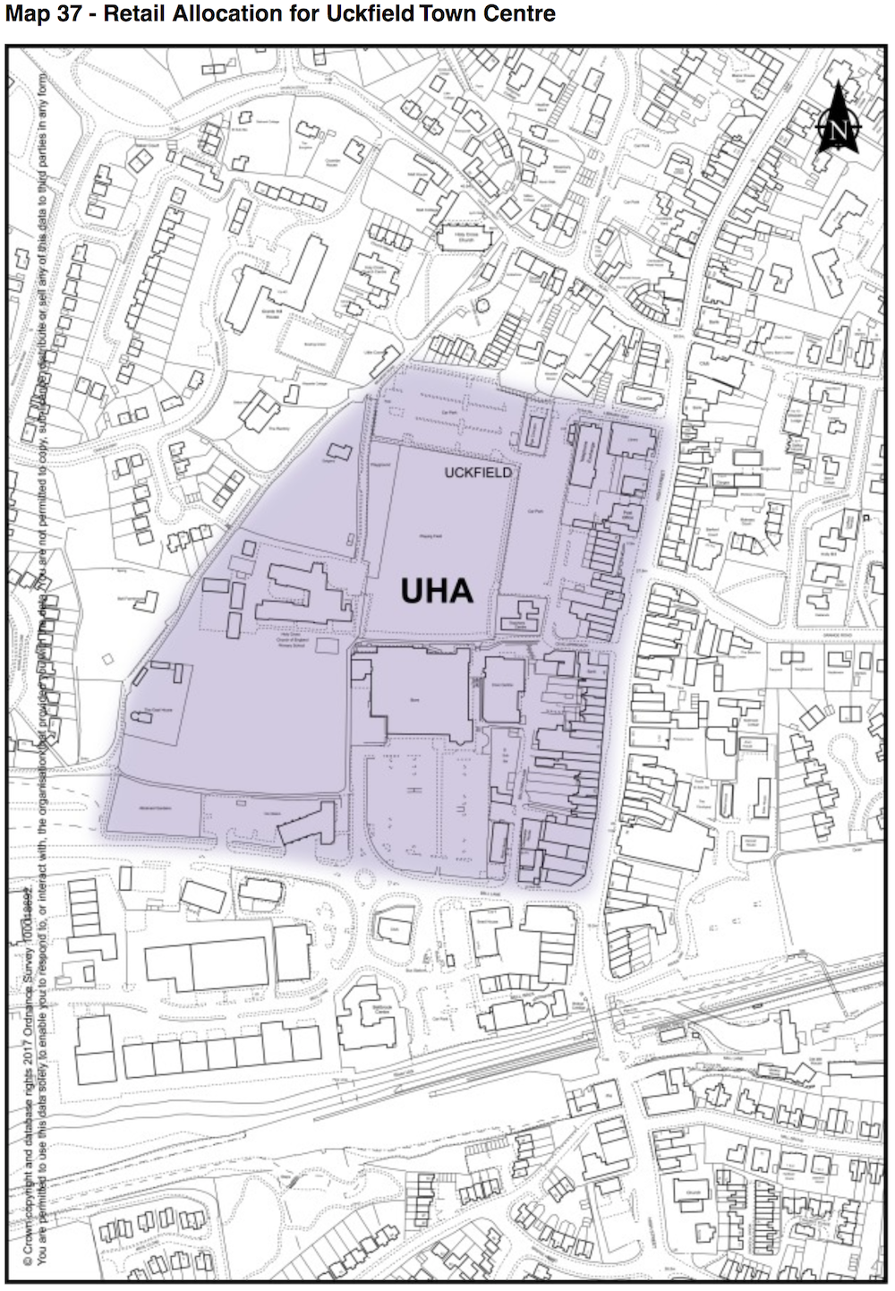 map-retail-allocation-uckfield-town-centre
