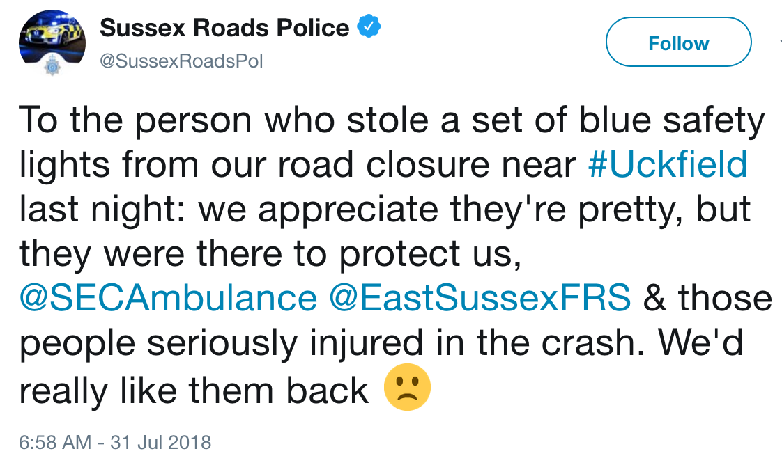 police-twitter-post-stolen-lights