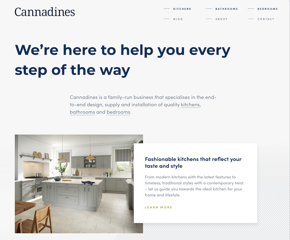 cannadines-new-website
