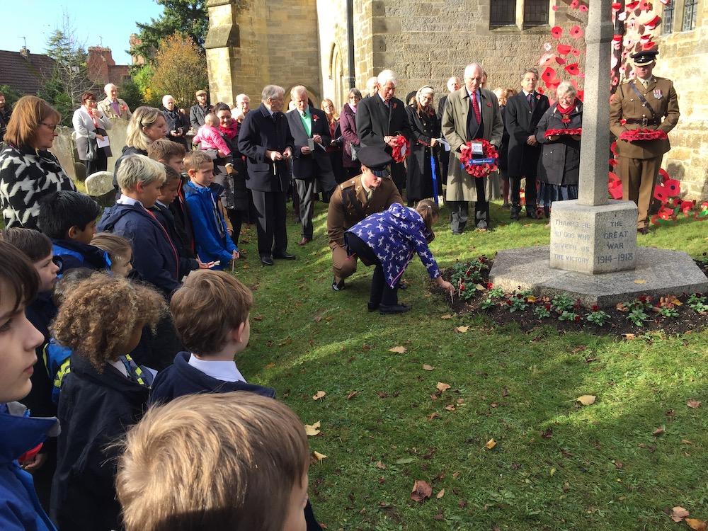 maresfield-children-planting-crosses