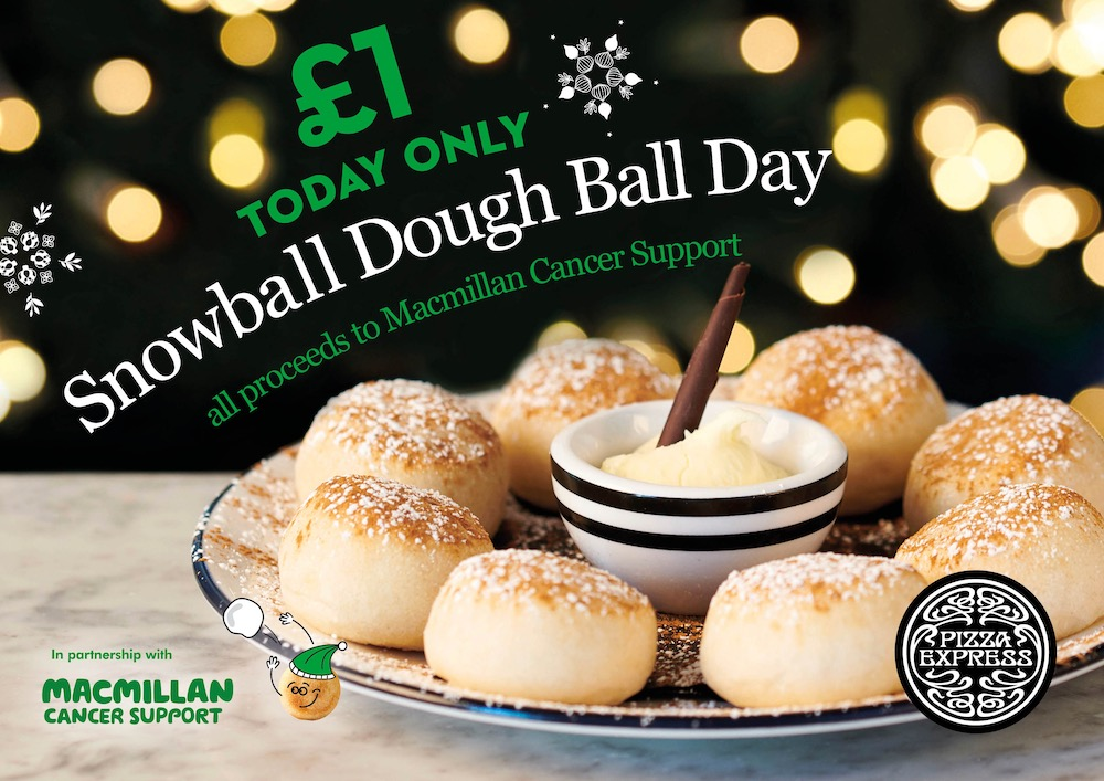 Today Is Snowball Doughball Day At Pizza Express Uckfield News
