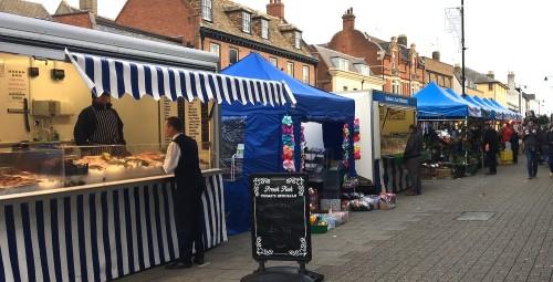 Newmarket High Street market