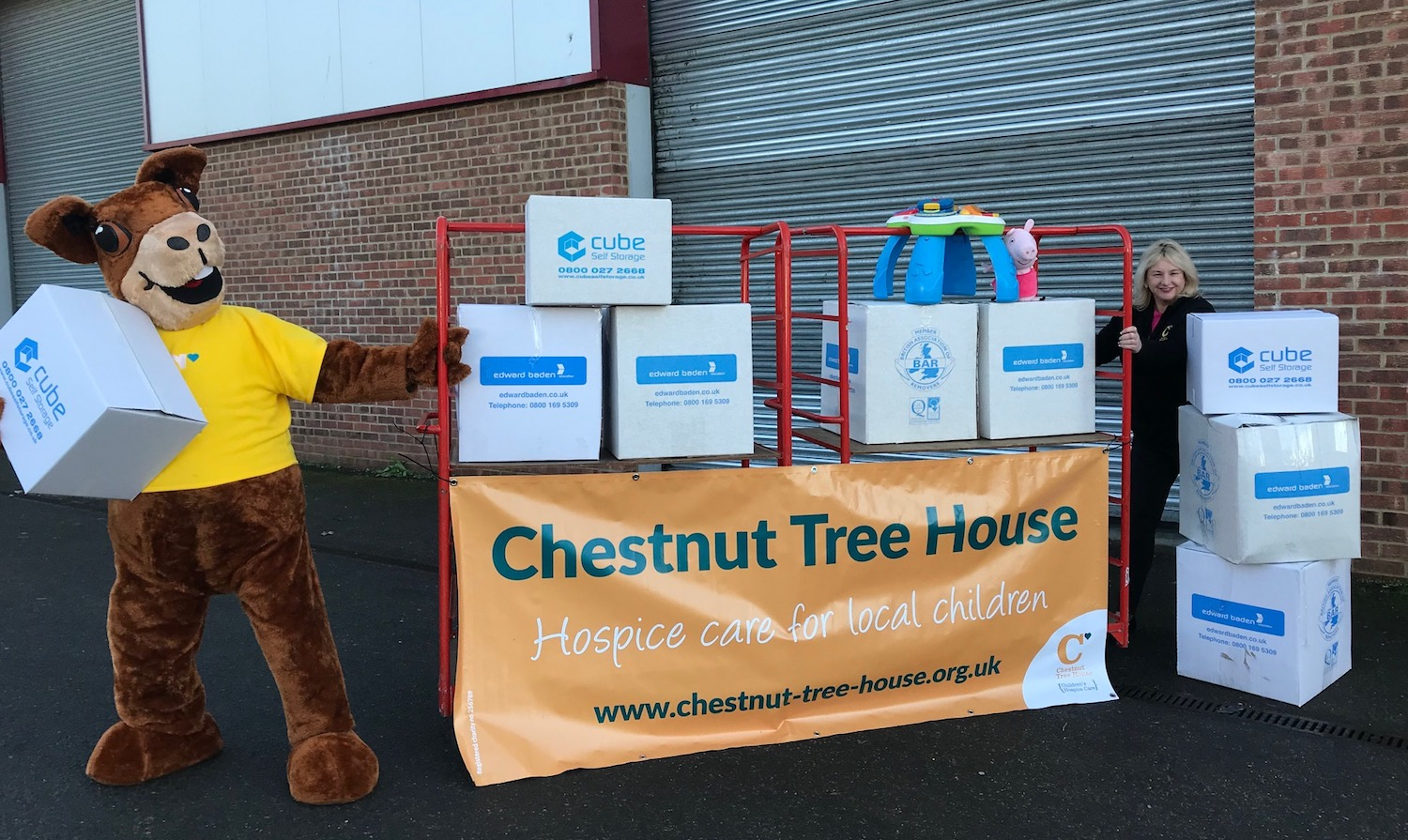 cube storage collects toys for chestnut tree house charity