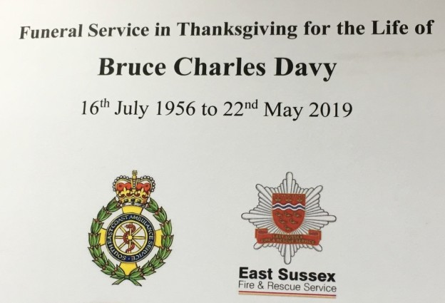 Bruce Davy order of service