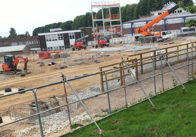 Construction under way at Uckfield College