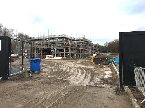 The Premier Inn under construction with an opening date likely in the spring