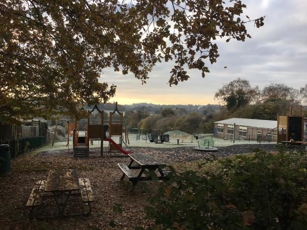 Hempstead Road play area and the Osborn Hall